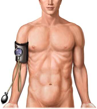Blood Pressure Reading, Anterior View